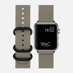 WsC NATO Apple Watch Strap | Mountain Grey | 44mm