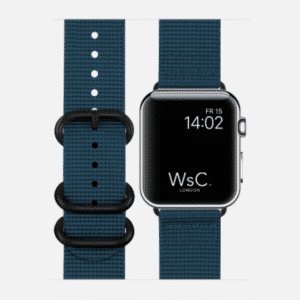 WsC NATO Apple Watch Strap | Ocean Blue | 40mm