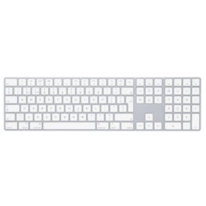 Apple Wireless Magic Keyboard With Numeric Keypad Silver