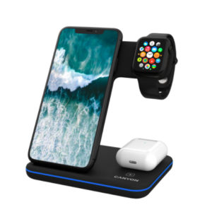 Canyon 3-in-1 Wireless Charging Station Black