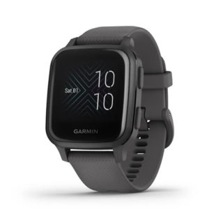 Garmin Venu® Sq | Slate Aluminium Bezel with Shadow Grey Case and Silicone Band