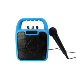 Celly Kids Party Wireless Speaker With Microphone Blue