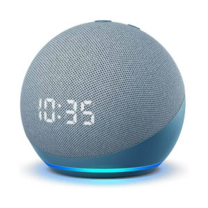Amazon Echo 4th Gen Smart Speaker With Clock (Alexa) | Twilight Blue