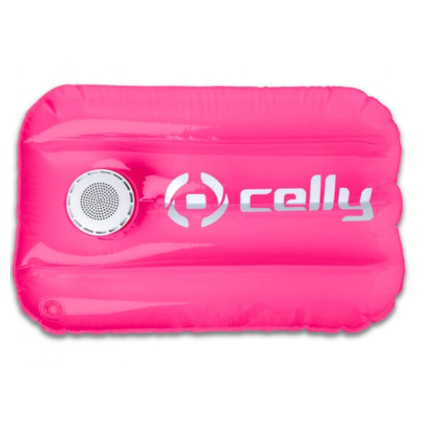 Celly Pool Pillow With Speaker Pink