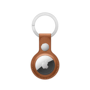 Apple AirTag | Leather Key Ring | Saddle Brown