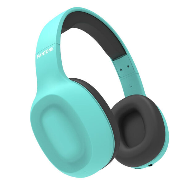 Celly Pantone Bluetooth Over Ear Headphones With Mic Cyan