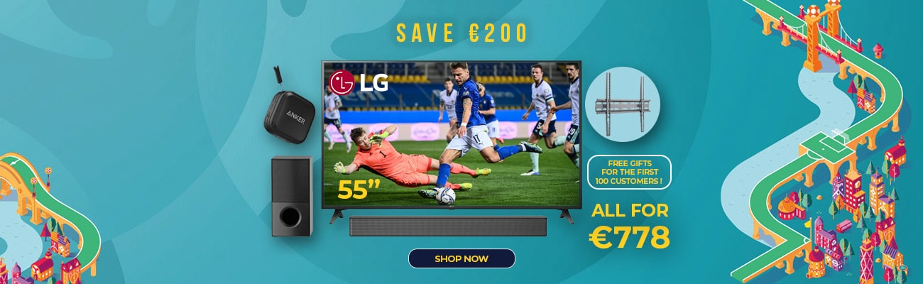 Save €200 when buying this LG TV and Soundbar