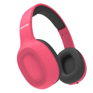 Celly Pantone Bluetooth Over Ear Headphones With Mic Pink