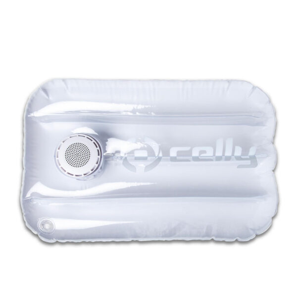Celly Pool Pillow With Speaker White
