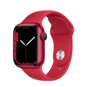Apple Watch Series 7 GPS, 41mm (PRODUCT) RED Aluminium Case with (PRODUCT) RED Sport Band - Regular